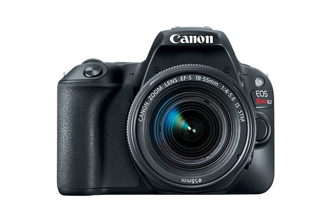 Refurbished Canon EOS Rebel SL2 Black or white EF-S 18-55mm f/4-5.6 Kit $399.99