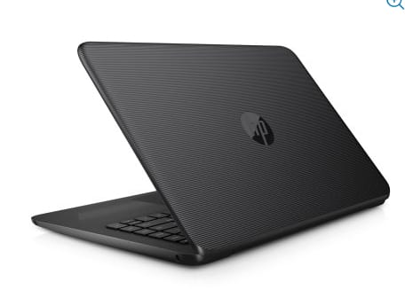 "HP Stream 14"" Jet Black Laptop, Windows 10 Home, Office 365 Personal 1-year included, Intel Celeron N3060 Processor, 4GB RAM, 32GB eMMC Storage $99 (B&M YMMV)"