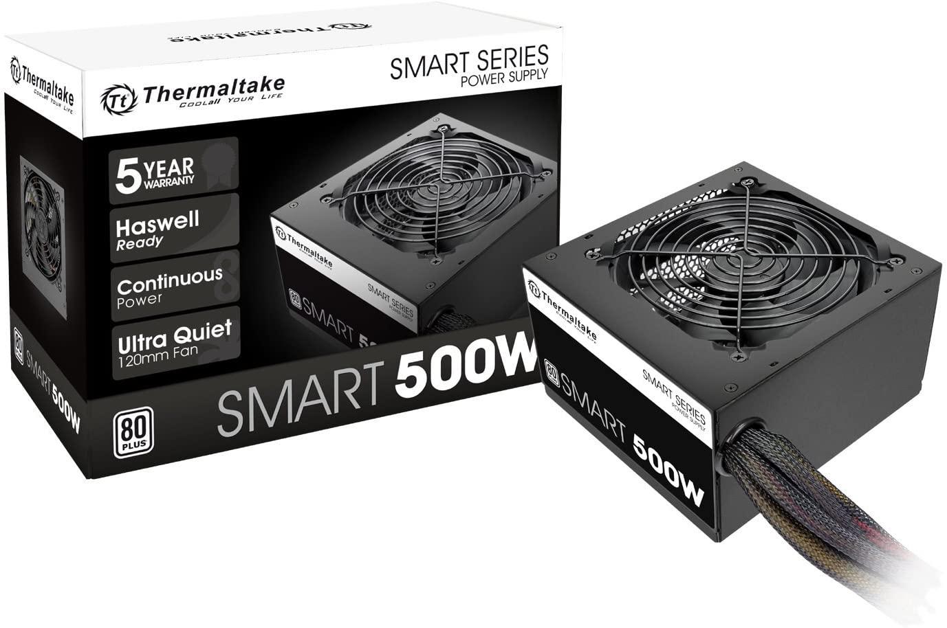 Thermaltake 500W (White) Power Supply PSU / 5-year warranty - $44.99