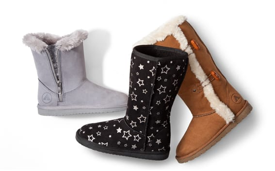 Payless shoes women's & girls cozy winter boots extra 50% off from $8.49