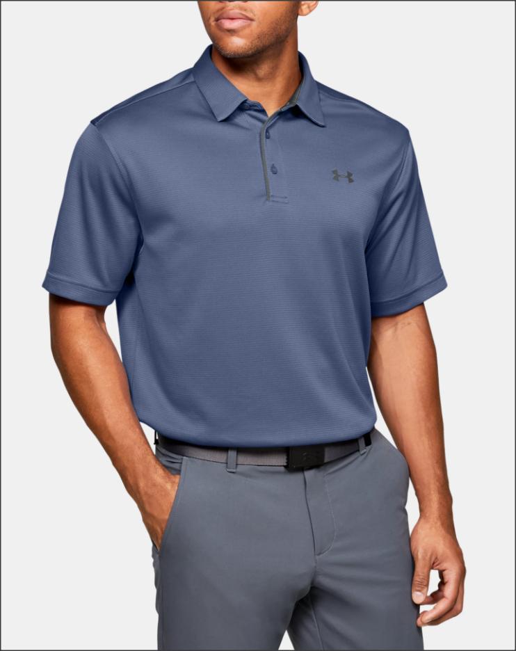 Men's UA Tech Polo (Hushed Blue / Pitch Gray) $19.99