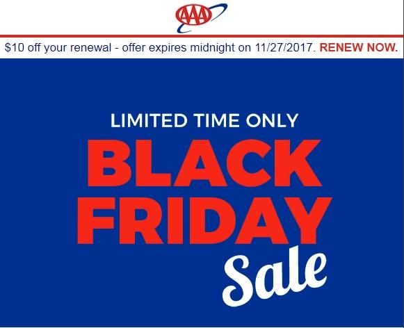AAA Renewal $10 Off $52. Total: