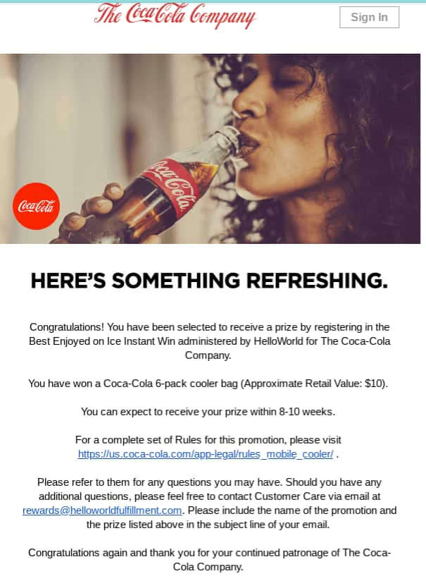 RETIRED: Coca-Cola com/offers (formerly My Coke Rewards