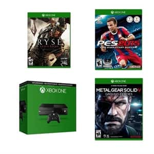 Factory Recertified Xbox One 500GB $174 + Ryse Son of Rome + Metal Gear Solid V Ground Zero + Pro Evolution Soccer 2015 free shipping