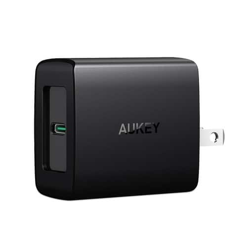 AUKEY Amp USB Type-C or Duo USB-A Wall Charger $13.99 New iPhones Fast Charging Capability