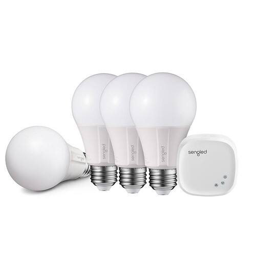 Sengled Element Classic A19 Starter Kit (4 Bulbs + Hub) - 60W Equivalent Soft White (2700K) Smart LED Bulb (lightning deal 41% off) $41.24