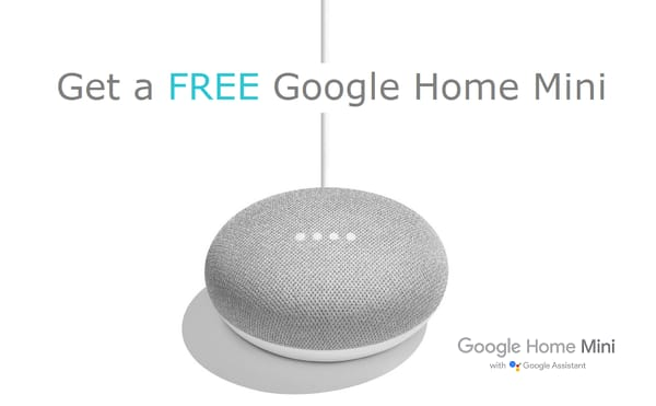 Free Google mini for connecting SCE, SDG&E or PG&E utility account