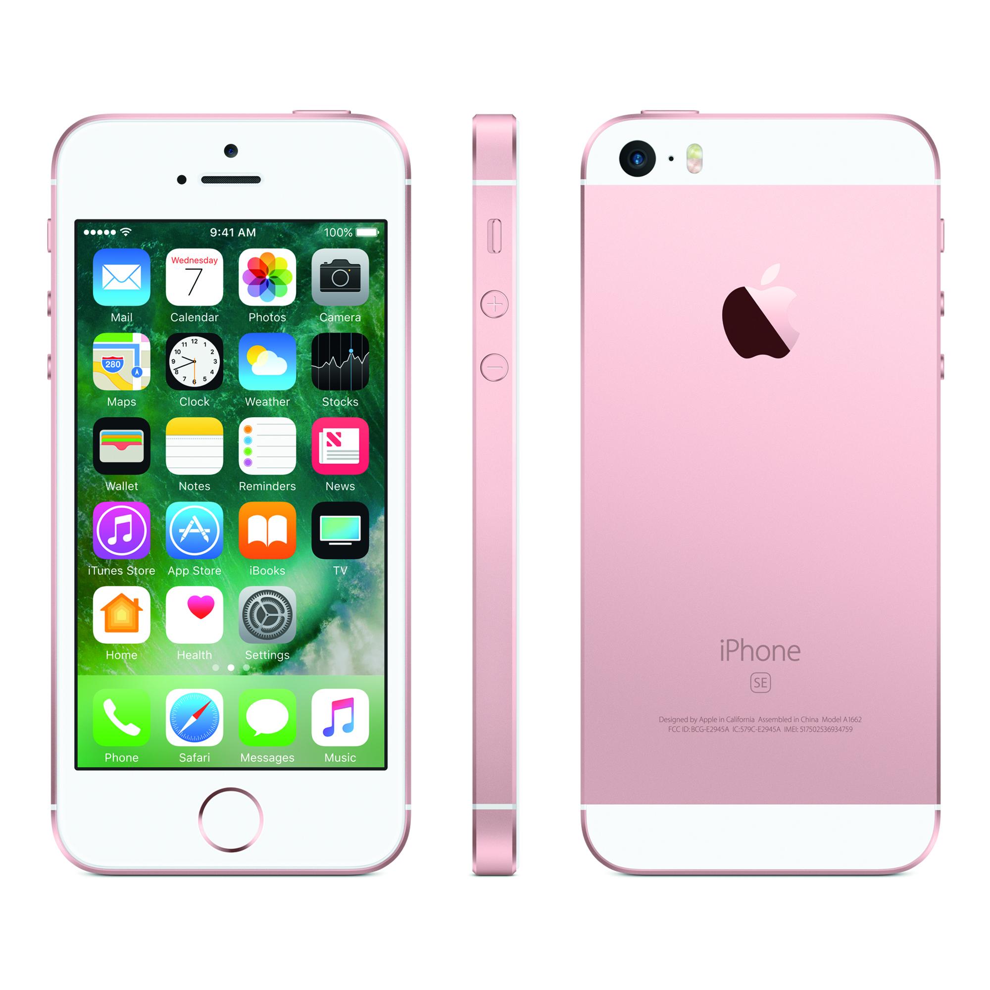 Refurbished Apple iPhone SE 32GB, Rose Gold - Straight Talk YMMV $76.29