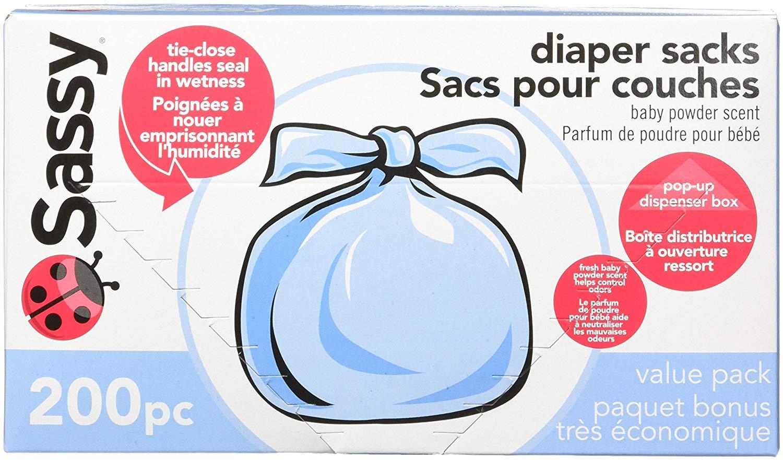 Sassy Baby Disposable Diaper Sacks, 200 Count $4.41