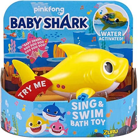 Robo Alive Junior Baby Shark Battery-Powered Sing and Swim Bath Toy by ZURU - Baby Shark $14.89