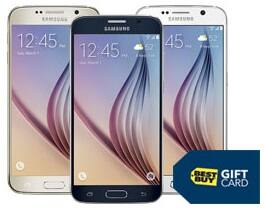 Samsung S6 AT&T at Best Buy eligible for $300 in Gift Cards