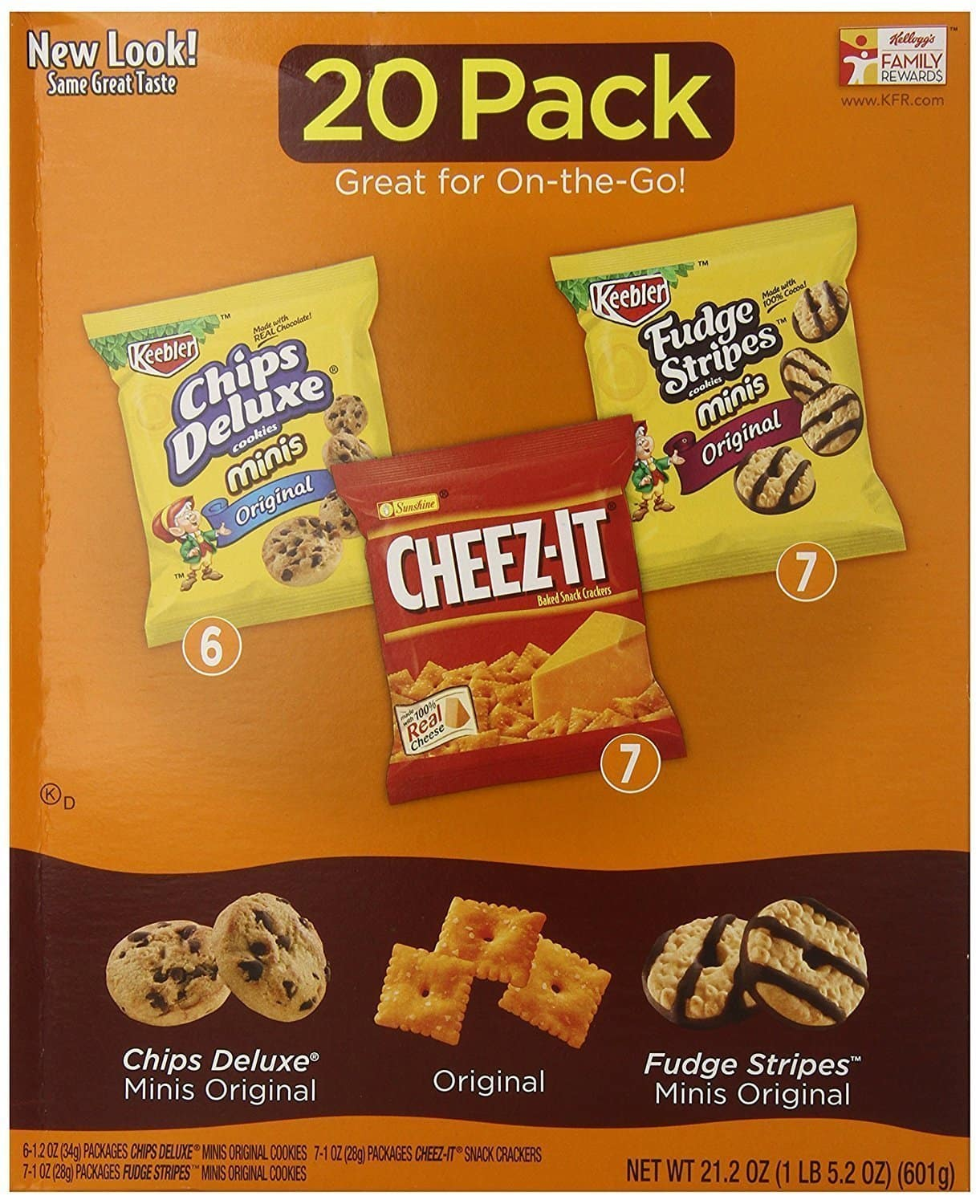 Chips Deluxe/Cheez-It/Fudge Stripes Variety Pack 20 ct Bags -- $3.69 with 30% Coupon and 15% SnS