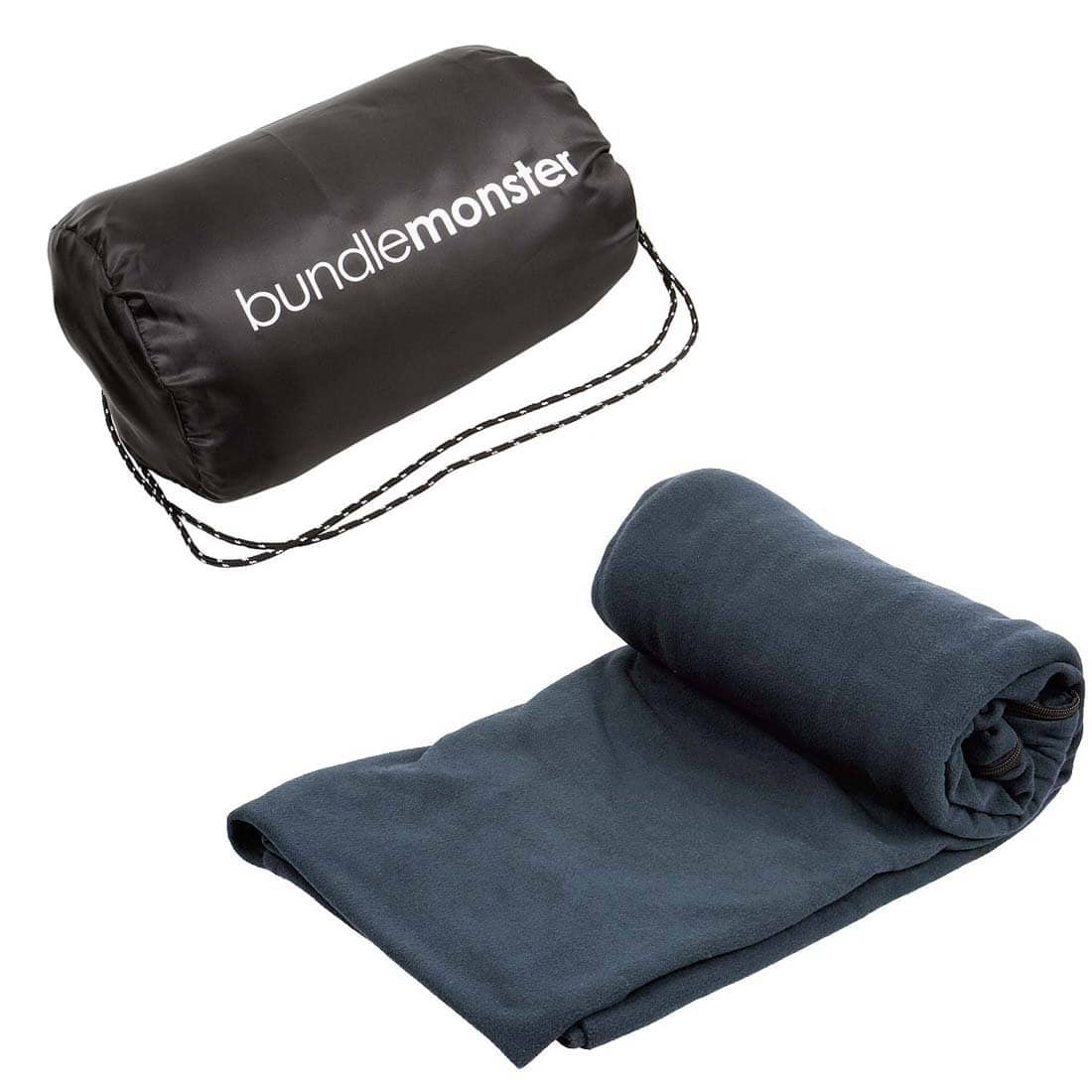 Bundle Monster Warm Cozy Multicolor Microfiber Fleece Adult Sleeping Bag Liner [Dark Gray] -- 50% OFF - $11.40