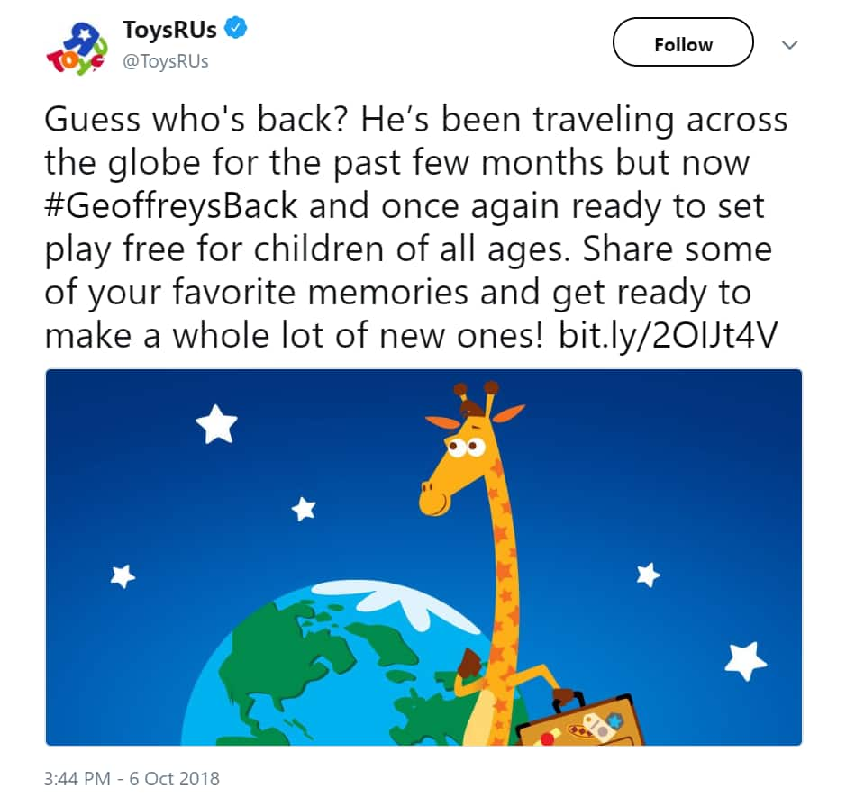 Psa Toys R Us To Reopen In 2019 Slickdeals Net