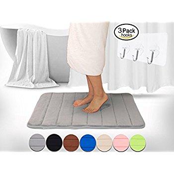 "47"" x 17"" Memory Foam Anti-slip Bath Rug Grey $13.99 AC @ Amazon"