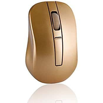 Gold Optical Wireless Portable Gaming Mouse $5.84 AC @Amazon