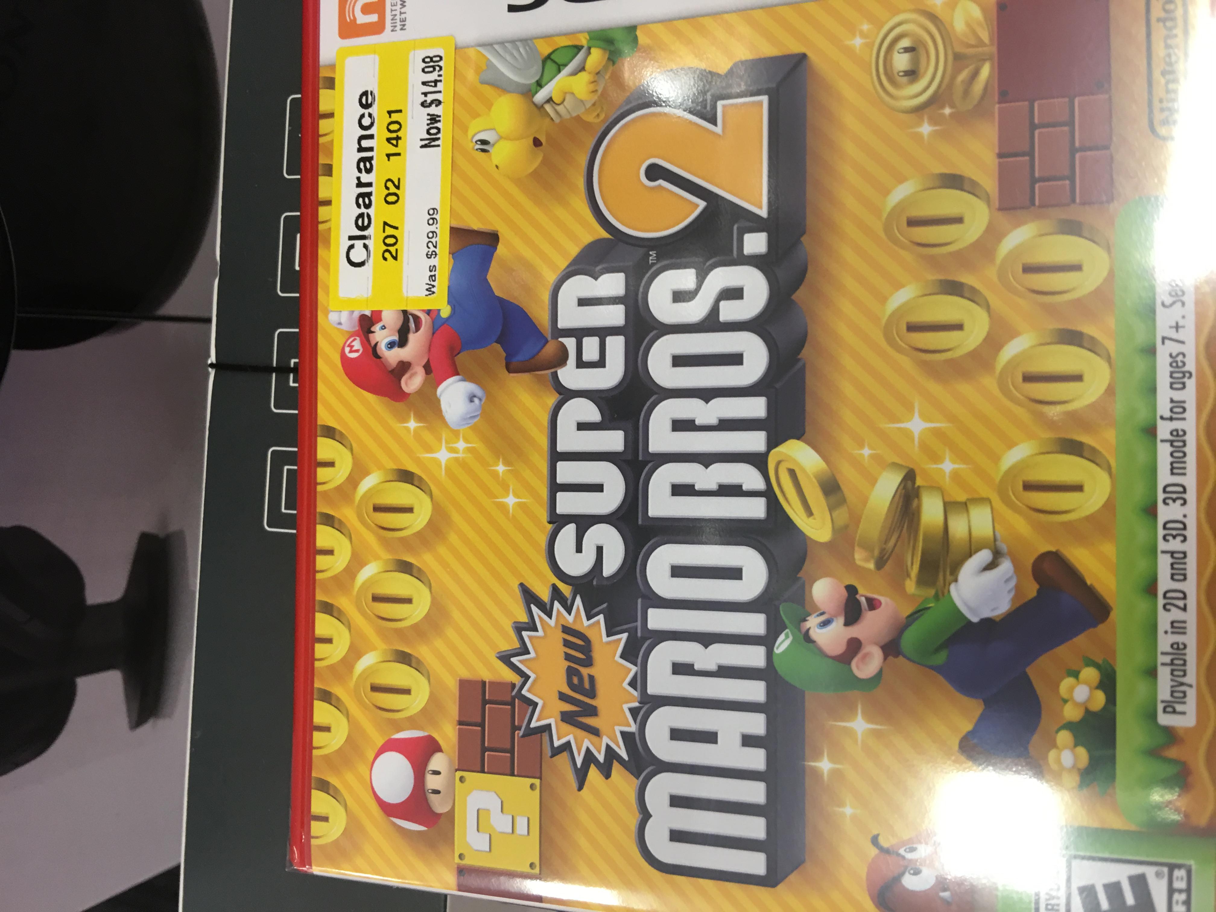 New Super Mario Bros 2 3DS $14.98 Target B&M YMMV