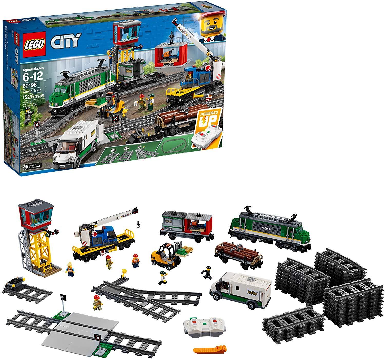 LEGO City Cargo Train 60198 Remote Control Train Building Set with Tracks for Kids $176