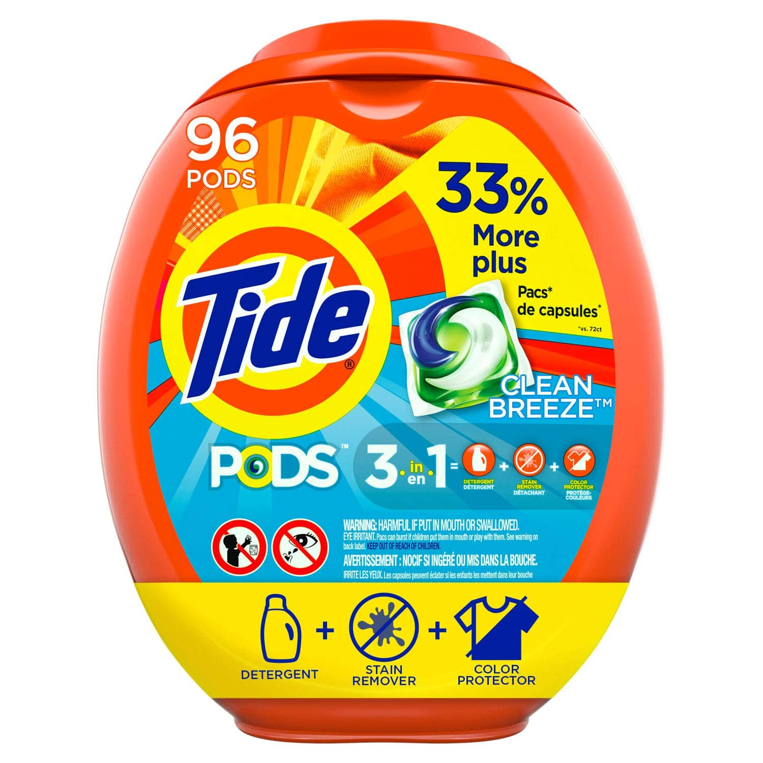 3 Tubs of 96 Tide PODS Laundry Detergent Liquid Pacs, HE Compatible $51.10 or $44.67 W/ S&S + free shipping