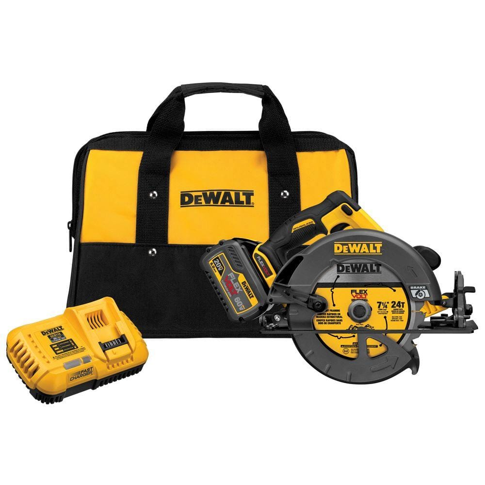 DeWalt FLEXVOLT 60-Volt MAX Lithium-Ion Cordless Brushless 7-1/4 in. Circular Saw with Battery 2Ah, 1-Hour Charger and Case YMMV B&M $150