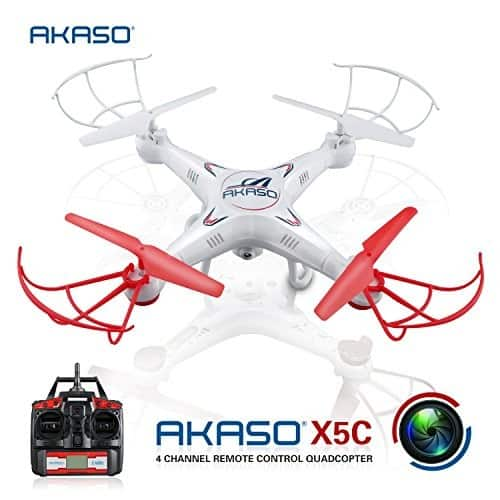 X5C 4-Channel 2.4-GHz 6-Axis Gyro Headless 360-Degree 3D Rolling Mode RC Drone Quadcopter with HD Camera, Micro SD Card and Blades Propellers $27.99