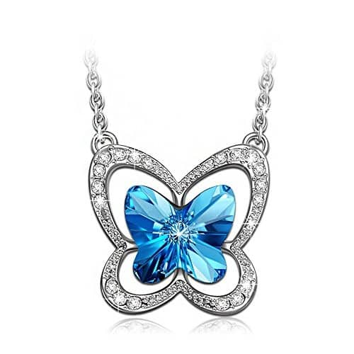 Blue Butterfly- Necklace Made with SWAROVSKI Crystals - Special for 2017 Christmas $13 & FREE Shipping