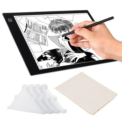 Light Box for Tracing Drawing, A4 Ultra Thin Pad, 3 Levels Dimming, 4Pcs Safety Corner Guards, USB Powered LED Copy Board $19.59 +FS @AC