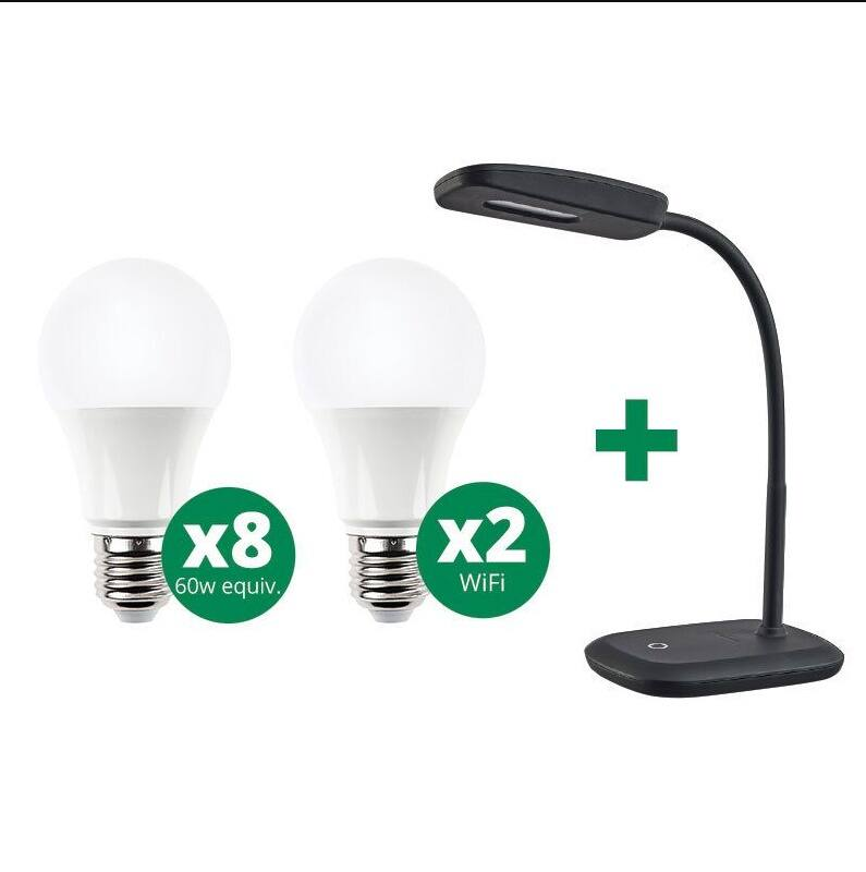 Regional: 8 LED Bulbs, 2 Wifi Color LED Bulbs, 1 LED Desk Lamp $5 (CT, NH, MA Eversource customers)