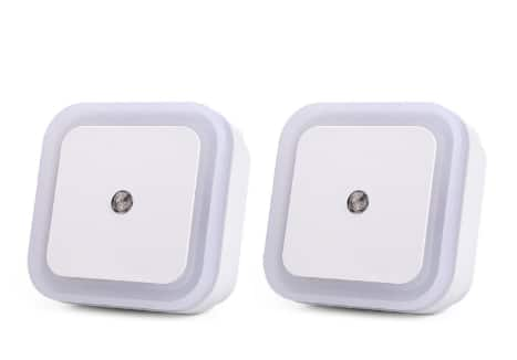 2-pack of 0.5W LED Night Lights (Wall Plug) with Smart Light Sensors ($4.13 on Amazon)