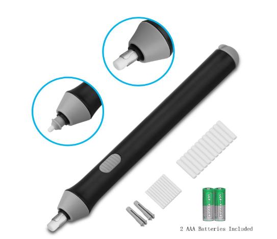 XREXS Electric Eraser Kit with 22 Eraser Refills in 2 Sizes ($7.99 on Amazon)