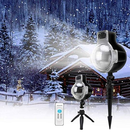 Elec3 Christmas Snowfall Projector Lights for $11.99 on Amazon
