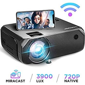 "Bomaker 3900 Lux Wifi Projector (supports up to 1080P/300"" screens) for $90 @ Amazon"