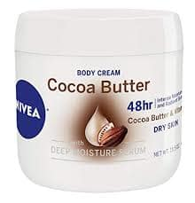 3-NIVEA Cocoa Butter Body Cream - 48 Hour Moisture For Dry Skin To Very Dry Skin - 15.5 oz. Jar  Sold by Amazon.com $10.62