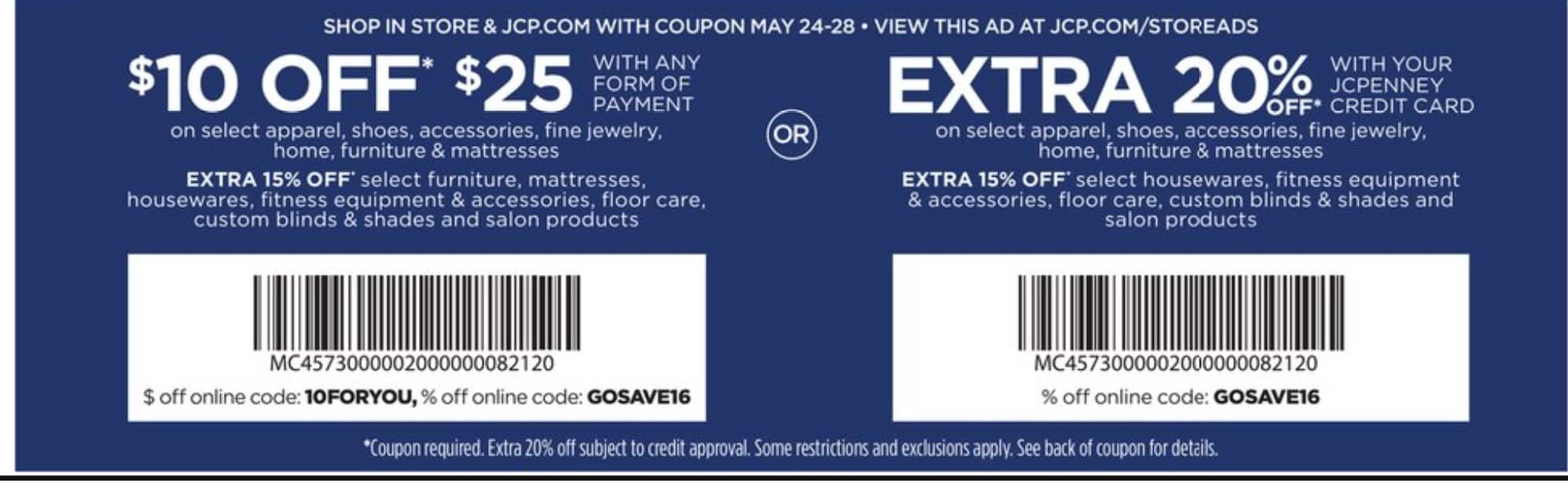 a0e5aa5b5798 JC Penney  10 off  25 online and In-store - Slickdeals.net