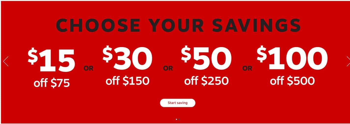 Staples has sale today - $15 off $75 OR  $30 off $150 OR $50 off $250 OR  $100 off $500