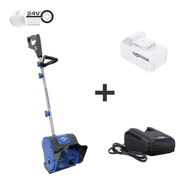 Snow Joe 24V-SS10-XR-SJB 24-Volt iON+ Extended Run Time Cordless Snow Shovel Kit | 10-Inch | W/ 5.0-Ah Battery and Charger $109.99