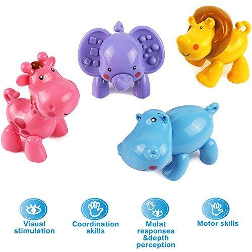4 pcs Infant Baby Push Animals Toys Set $7.48