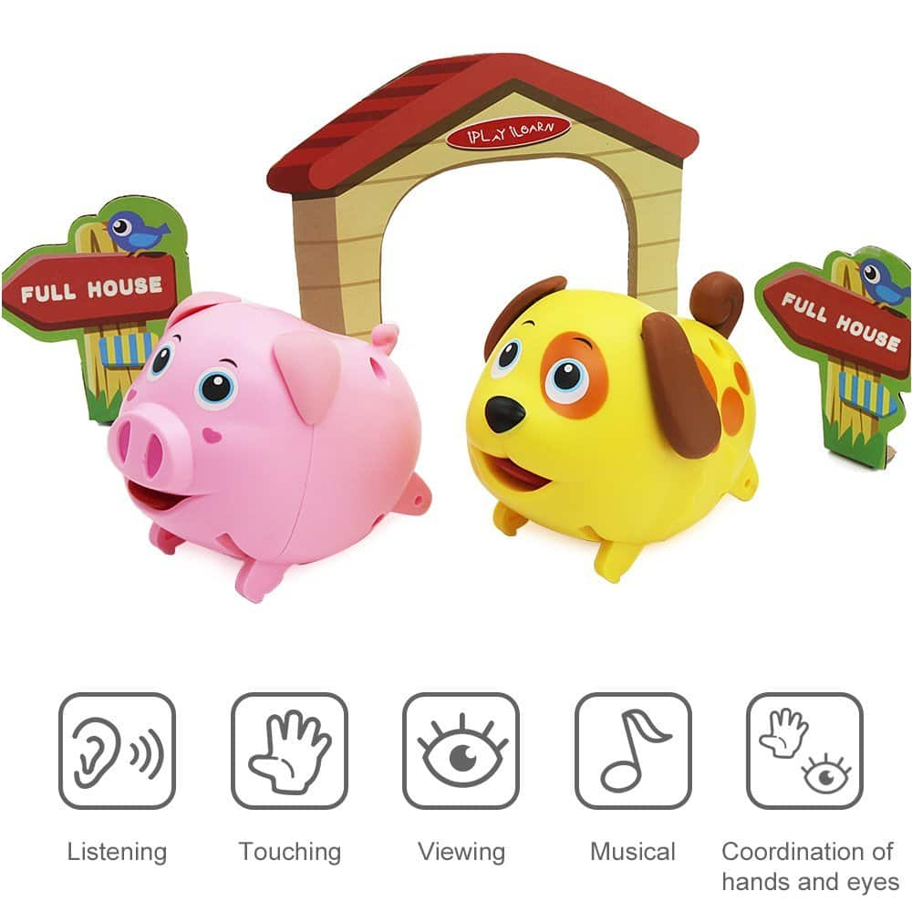 Electronic Animal Toys Set (Pig & Dog ) $7.49 AC @Amazon