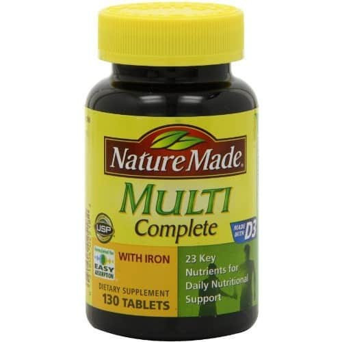 Nature Made Multi Complete with Iron 130 Tablets $4.31@amazon