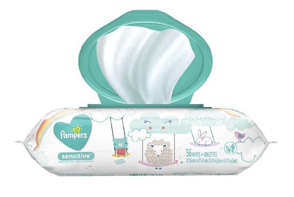 Pampers Baby Wipes Sensitive Pop-Top Unscented, 168 wipe for $4.2 and store pickup at walgreen