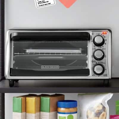 Black & Decker™ 4-Slice Toaster Oven in Grey $16 after 20% off coupon $15.99
