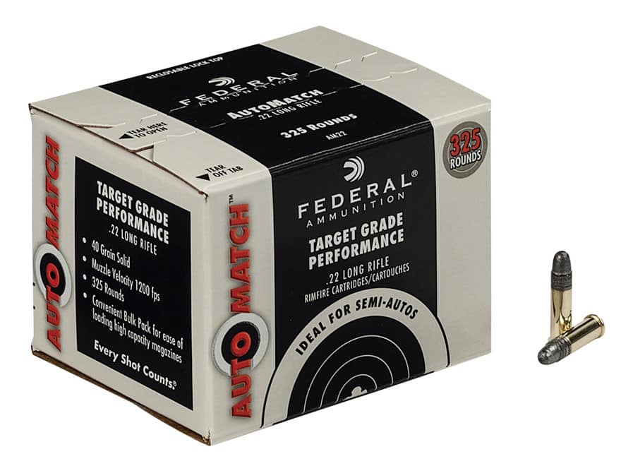 AMMO: Bass Pro Shops - Federal Auto Match Target Ammo .22LR .22 325 ct box- $19.99. Free shipping if $75+ order. Free $10 Bass Pro gift card for $75+ ship-2-store / pickup orders
