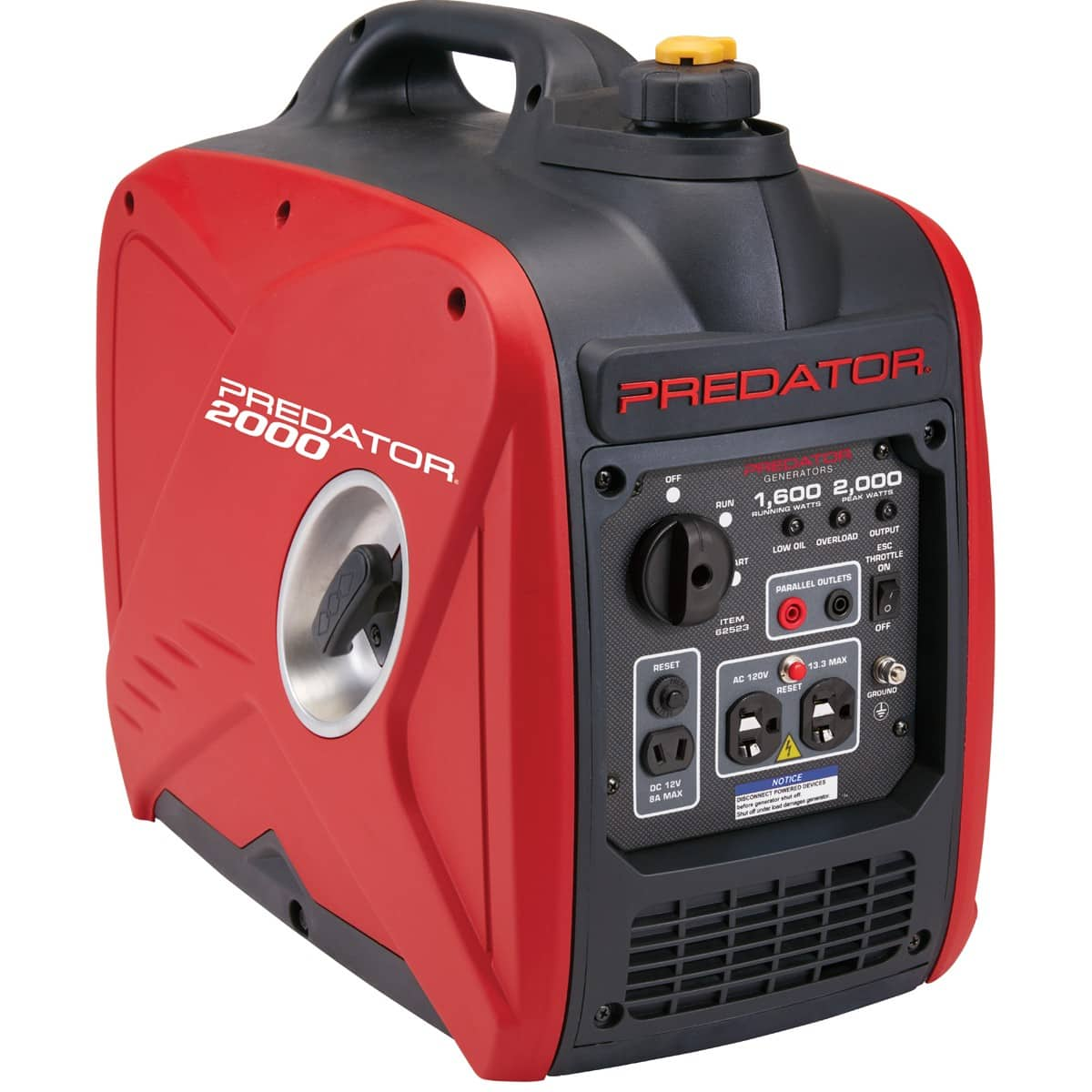 Harbor Freight - Predator 2000 Peak/1600 Running Watts, 2 8