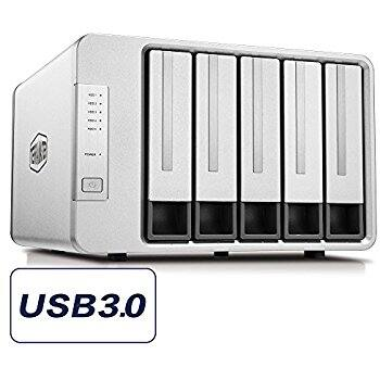 Noontec TerraMaster D5-300C USB3.0(5Gbps) Type C 5-Bay RAID Enclosure Support RAID 0/1/Single Exclusive 2+3 RAID Mode Hard Drive RAID Storage (Diskless) - $181.69