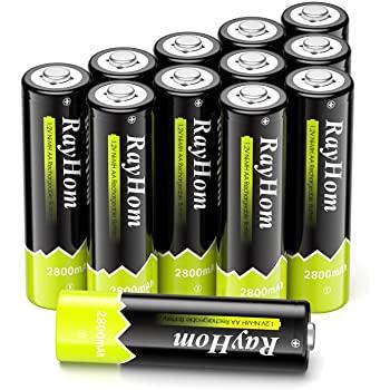 RayHom Rechargeable Batteries 2800mah at amazon $9.24