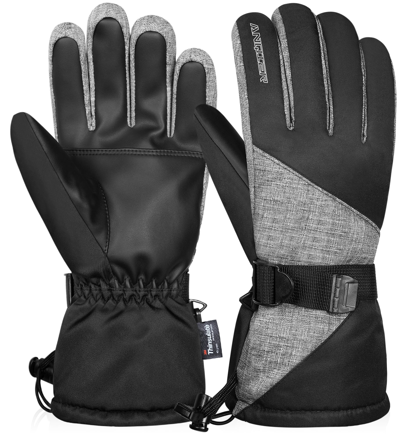 Anqier Waterproof 3M Thinsulate Winter Thermal Ski Gloves $10.99+ Free Shipping