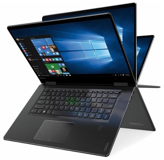 Lenovo Yoga 710 2 in 1 15.6 inch Touch Screen Laptop, Black $699.99