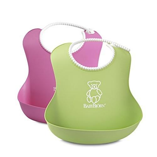 BABYBJORN Soft Bib, Pink/Green, 2 Pack $8 @amazon