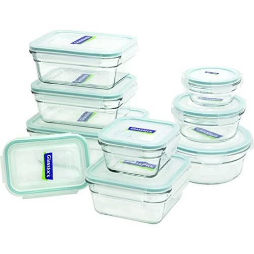 Glasslock 18-Piece Assorted Oven Safe Container Set $25.99@amazon