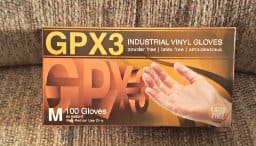Ammex GPX3 Vinyl Glove, 100-count, Latex Free, Disposable, Powder Free, Large size only for $3.04 after 5% Subscribe & Save Amazon Prime